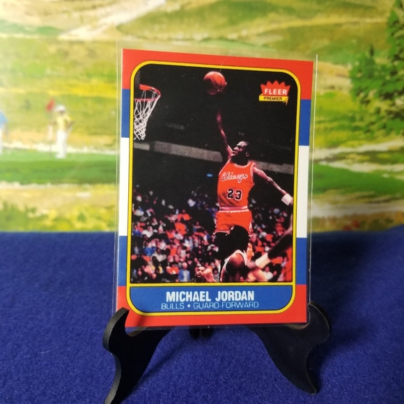 Michael Jordan REPRINT 1986 Fleer Rookie Card